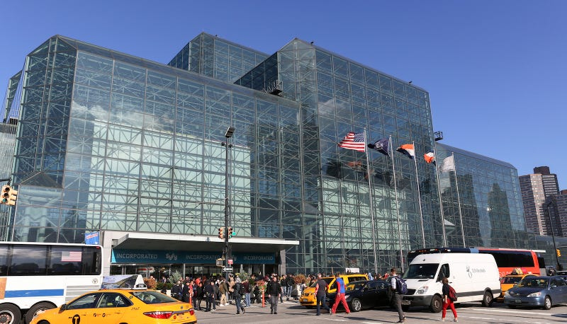 The Javits Center in Manhattan. Image via Steve Luciano/AP Photo.