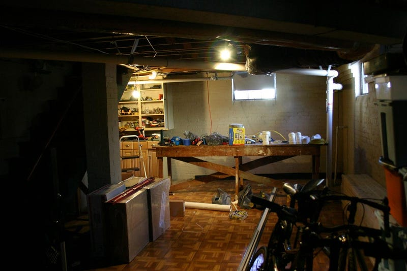 before and after the basement home office basement home office