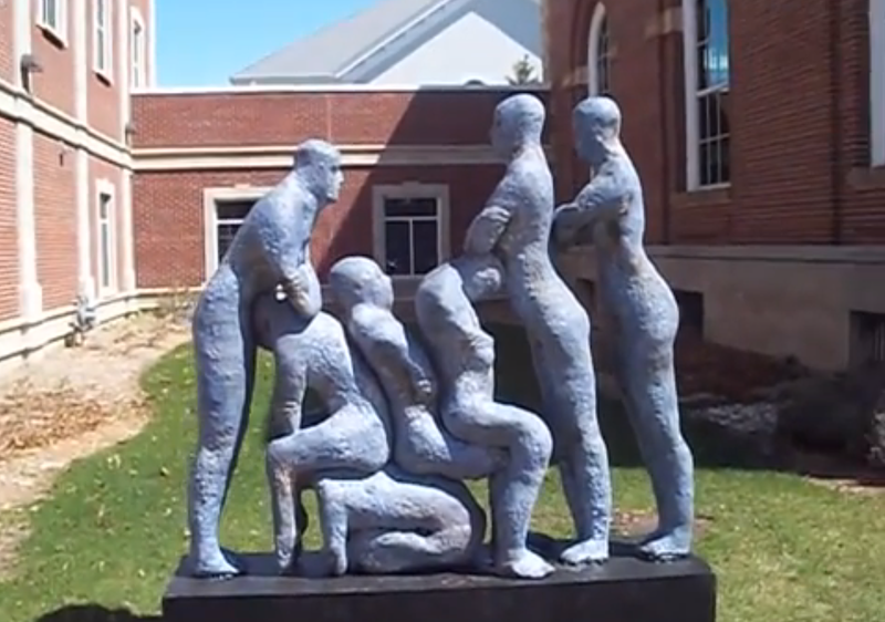 Illustration for article titled This Sculpture Looks Too Much Like A Gay Orgy, Michigan Town Says