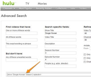 Illustration for article titled Hulu Advanced Search Helps You Find Specific Episodes More Easily