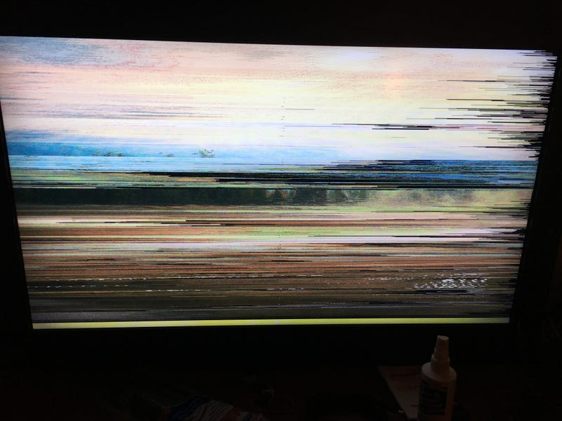 Illustration for article titled What does it mean when your TV looks like this?