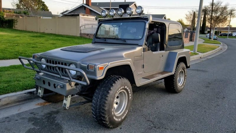 """Illustration for article titled At $7,500, Will This 1991 Jeep YJ """"Landrunner"""" Land a Buyer?"""