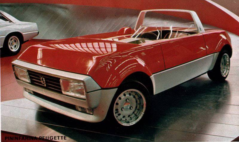 Illustration for article titled Peugeot 104 barchetta (c1977) by Pininfarina