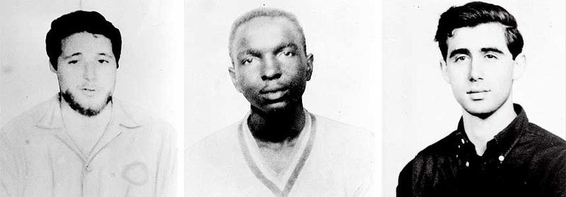 Michael Schwerner, James Chaney and Andrew GoodmanWikimedia Commons