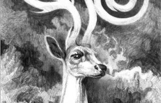 Illustration for article titled The White Stag From Shadow And Bone Gets A Loteria Card Tribute