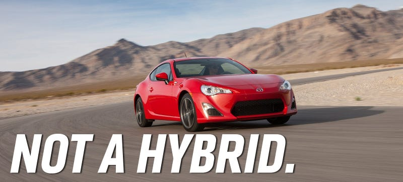 Illustration for article titled So Yeah, There Probably Won't Be A Hybrid Toyota GT86