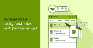 Illustration for article titled AirDroid Adds a Desktop Widget, Right-Click Menu to Quickly Share Files