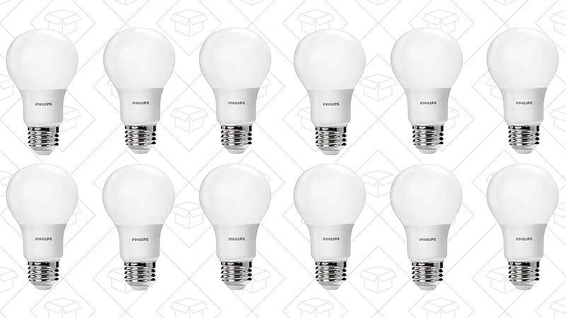 Philips 60W LED Bulb 12-Pack, $22