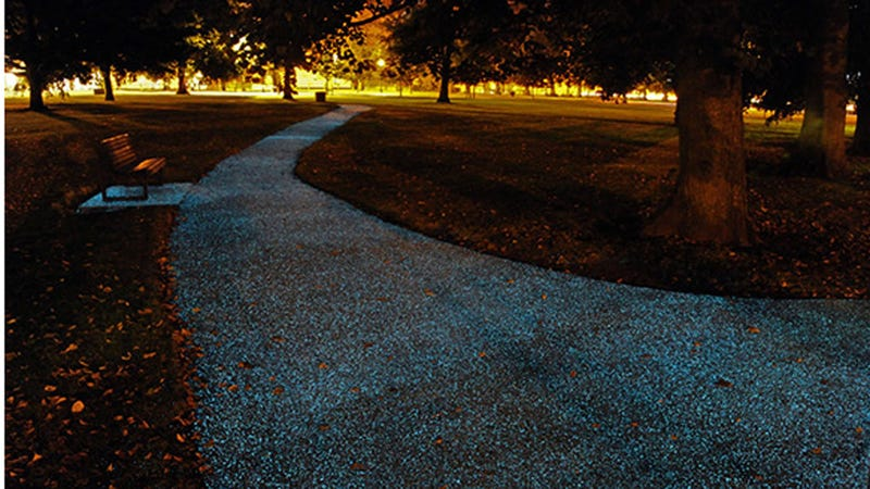 Illustration for article titled Step Aside, Street Lamps: These Ordinary Paths Glow On Their Own
