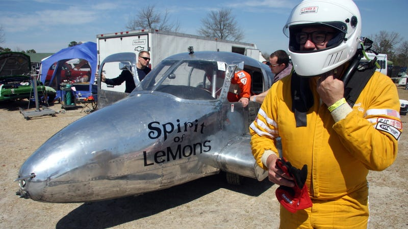 "Illustration for article titled The ""Spirit Of Lemons"" Plane Car Raced And Didn't Fall Apart"