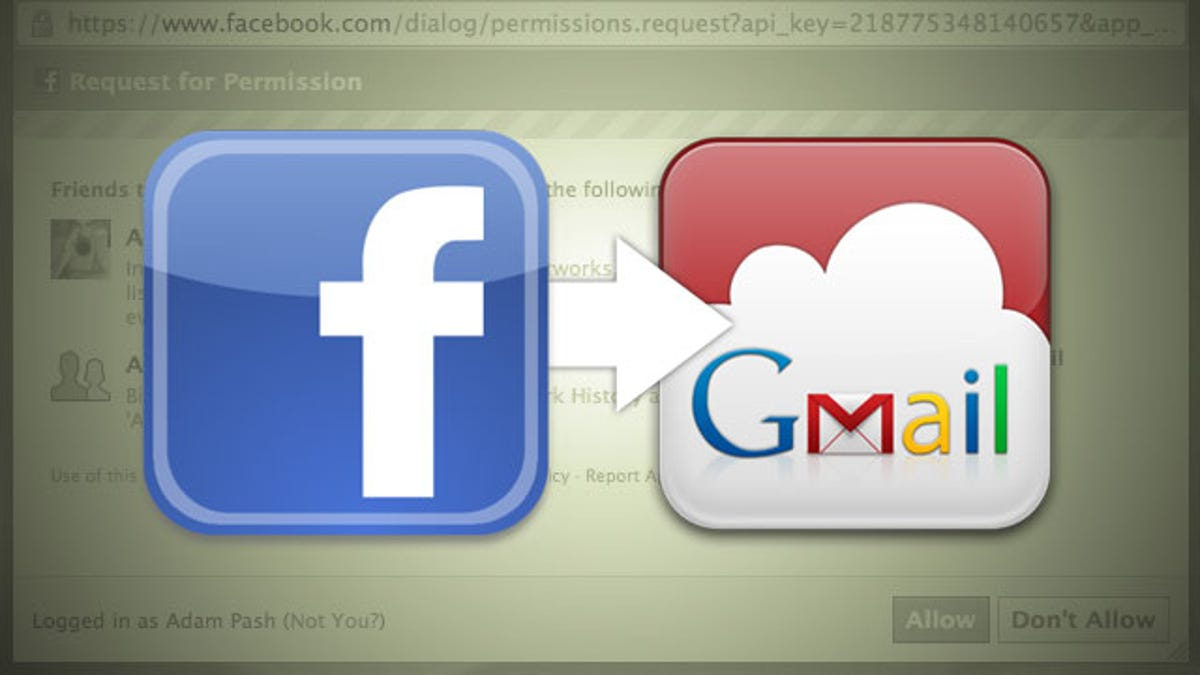 Friends to Gmail Exports Your Facebook Contacts into Google