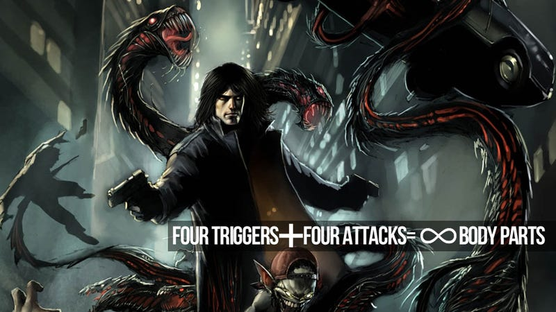 """Illustration for article titled The Murderous Math of The Darkness II's """"Quad Wielding"""""""