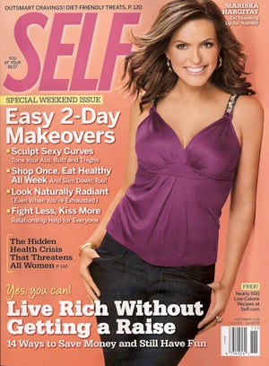 The Ladymag Blogger Over At Glossed Says That Selfs November Covergirl Mariska Hargitays Description Of Her Own Figure Skewed And Jaw Dropping
