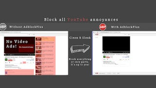 Illustration for article titled Adblock Plus Now Block YouTube's Biggest Annoyances