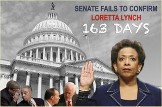 Illustration for article titled US Senate Fails to Confirm Loretta Lynch