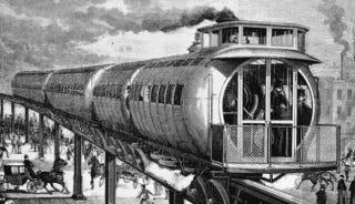 Illustration for article titled Algunos de los trenes más extraños jamás inventados