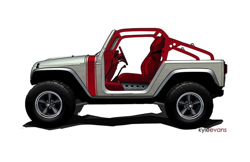 "Illustration for article titled Jeep's Mopar-tweaked concepts for ""holy week"" of offroading"