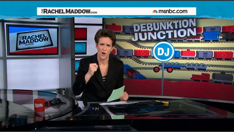 Illustration for article titled Maddow Defends POTUS Between Two Ferns Jokes