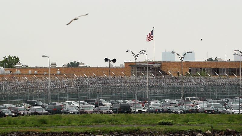 The Rikers Island prison complex.
