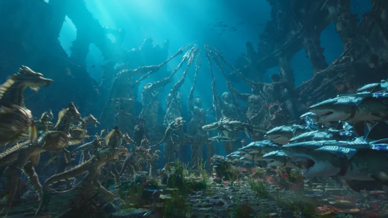 The undersea beings of Aquaman.