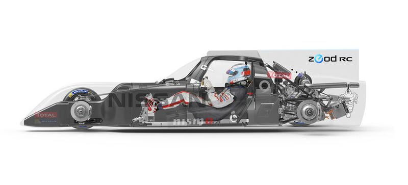 Illustration for article titled This Is How They Fit Everything Into The Nissan ZEOD RC