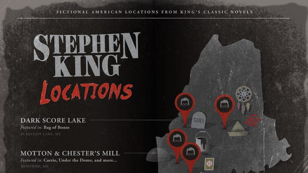 Shelter King Maine : Infographic real life locations of stephen king novels