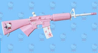 Illustration for article titled Hello Kitty Expands Upon Arsenal With AR-15 Rifle