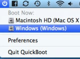 Illustration for article titled QuickBoot Adds Easy Access for Rebooting to Other Volumes