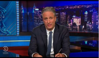 Illustration for article titled Infuriated Jon Stewart Can't Even Bring Himself to Joke About Charleston