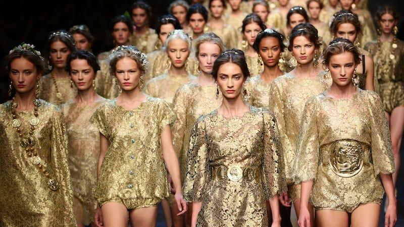 Illustration for article titled Dolce & Gabbana: For the Golden Goddess in You