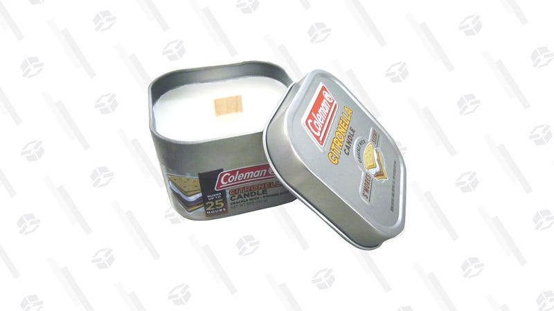 Coleman Scented Citronella Candle with Wooden Crackle Wick   $3   Amazon