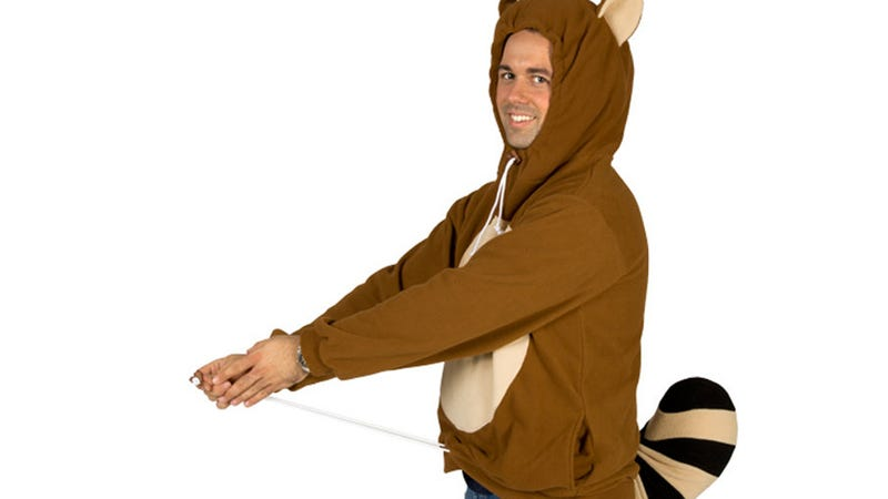 Illustration for article titled A Tanooki Suit Hoodie Sounds Like a Cute Idea, But The Result Is Kind of Creepy