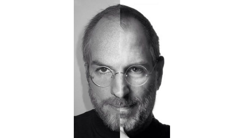 Illustration for article titled Ashton Kutcher's Steve Jobs Movie Makeup Is Totally Unreal—He IS Jobs