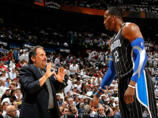 Stan Van Gundy and Dwight Howard (Kevin C. Cox/Getty Images)