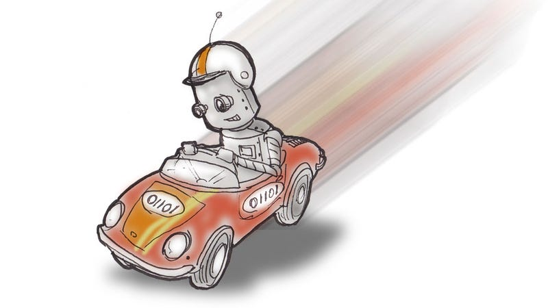 Illustration for article titled Humans Still Beat Robot Cars On The Track, Just Barely