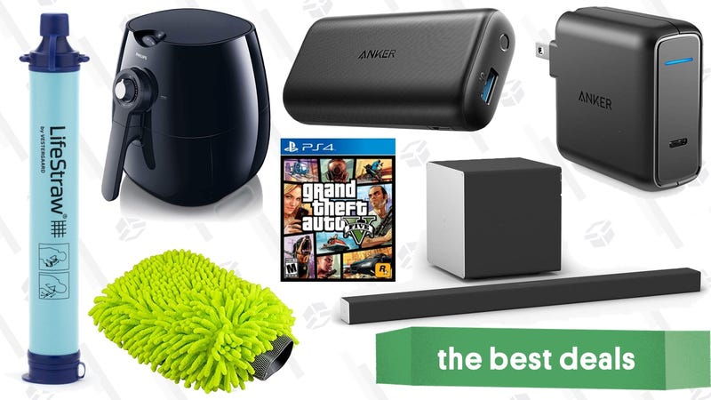 Illustration for article titled Saturday's Best Deals: Dolby Atmos, Philips Airfryer, $10 LifeStraw, and More