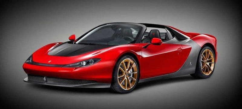Illustration for article titled The Ferrari Sergio Is An Awesomely Expensive Targa Topped 458