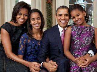 The Obama family (the White House)