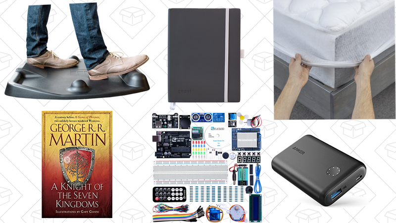 Illustration for article titled Tuesday's Top Deals: Arduino Starter Kit, Mattress Pad Gold Box, Anker PowerCore II, and More