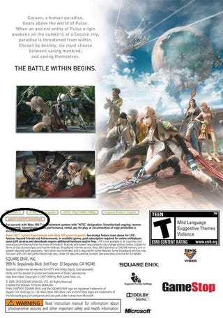 """Illustration for article titled Final Fantasy XIII Case Hints at """"Game-Content Download"""""""