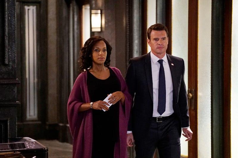 Kerry Washington as Olivia Pope and Scott Foley as Jake Ballard in Scandal (Kelsey McNeal/ABC)