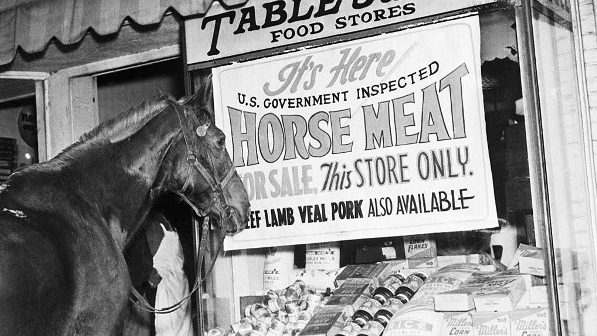How it became impossible for Americans to buy horse meat