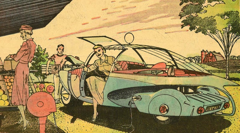 Illustration for article titled 1959's Electric Car of Tomorrow Looks Awfully Familiar Today