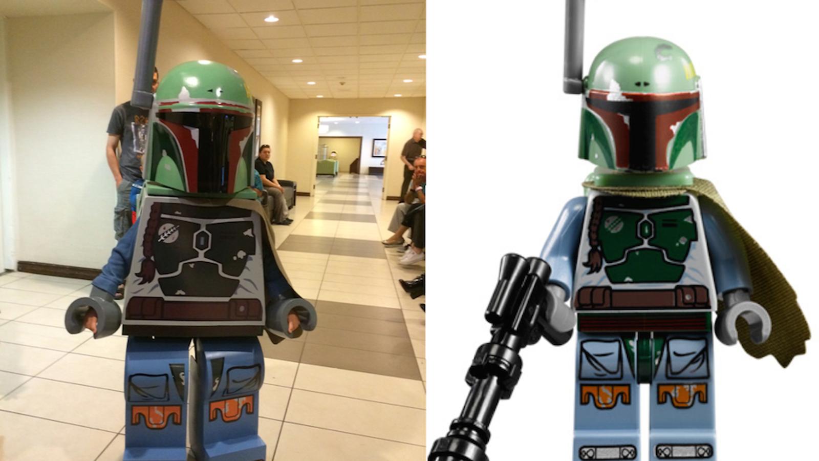 Dad Builds His Son A Damn Impressive Lego Boba Fett Costume