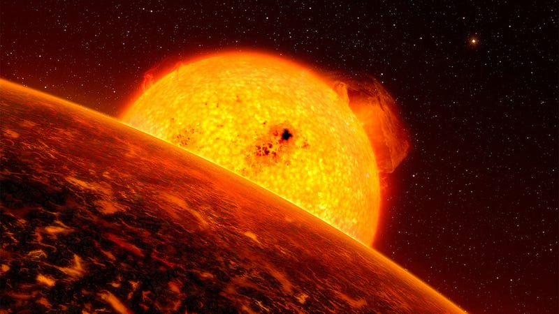 Artist's depiction of an exoplanet around a star