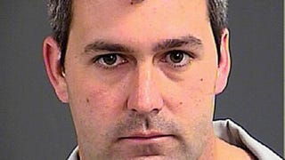 In this handout photo provided by the Charleston County Detention Center, then-Police Officer Michael Slager poses for his mug shot after being arrested on a charge of murder on April 7, 2015, in North Charleston, S.C.Charleston County Detention Center via Getty Images
