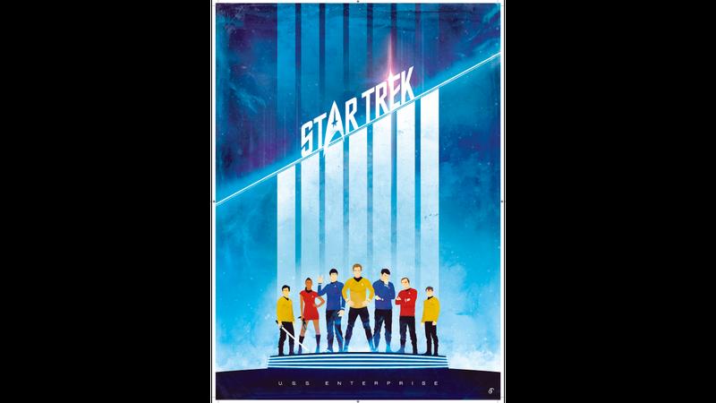 Illustration for article titled Patrick Corman Trek Posters In Final Frontier Exhbit