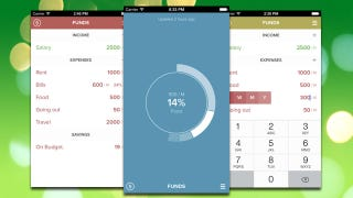 Funds Calculates Your Budget, Provides Simple Charts of Your Spending