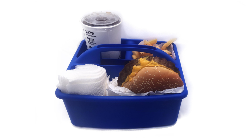 Contain Your Road Trip Meals in Shower Caddies
