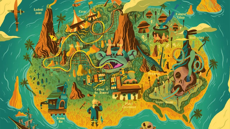 Crop of Monkey Island by Scott Balmer. All Images: Gallery 1988